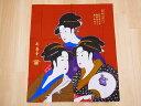 【日本のおみやげ】日本の和風のれん【三美人】【浮世絵シリーズ】※上部にに棒を通す輪があります。