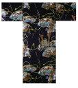 【日本のおみやげ】◆外国人向け着物【武者】子供用(35in〜40in)
