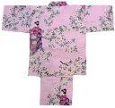 【日本のおみやげ】◆外国人向け甚平【桜舞妓】子供用(M〜L)