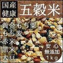 【もち麦入り国産健康五穀米 1kg(200g×5袋)】