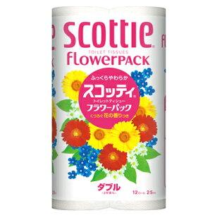 スコッティ トイレットペーパー フラワー まとめ買い