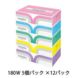 ☆送料無料 ネピア プレミアムソフト <strong>ティッシュペーパー</strong> 5箱×12パック 00191