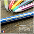 BIC【ビック】ウッドフリー(非木材)素材の折れにくい鉛筆Evolution(エボリューション)鉛筆646ストライプ6本セット