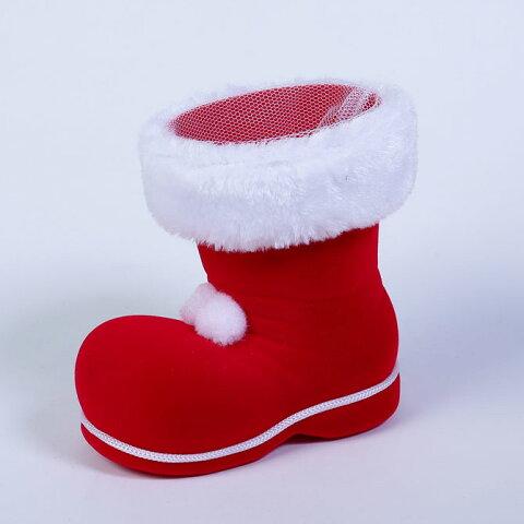 ブローブーツ Lサイズ【ぼんてん】【クリスマスブーツ】クリスマスの定番!!かわいいクリスマスブーツ。ネット付きなので、お菓子や小物を入れてプレゼントに!!※容器のみの販売です。