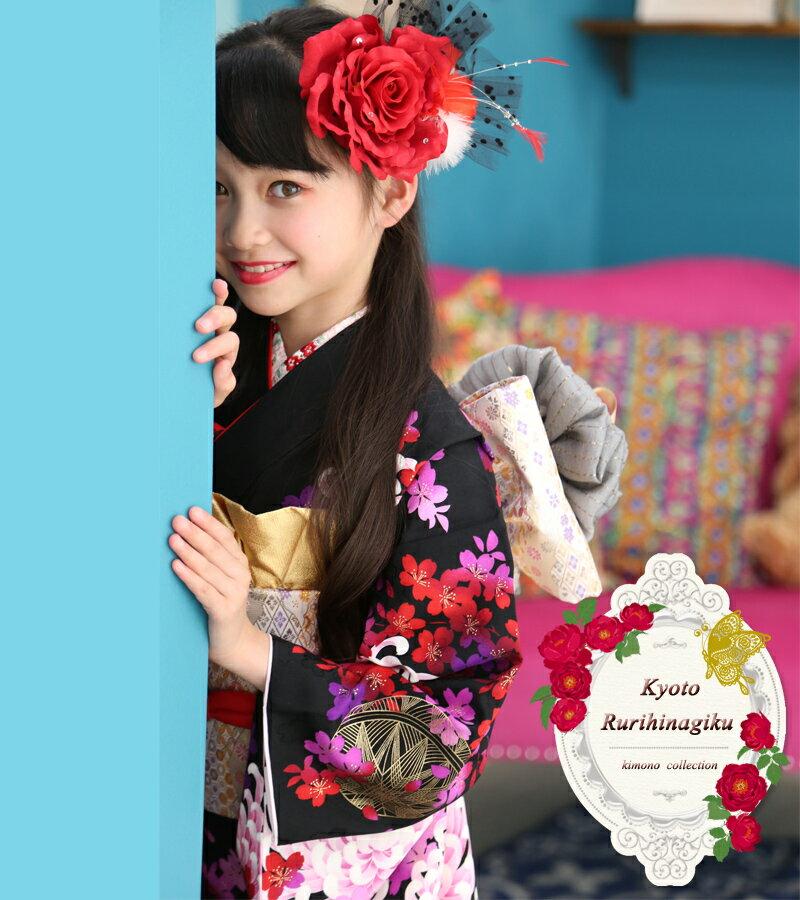 七五三 着物 7歳 セット 『凛』 新作 四ツ身 7歳用 お祝い着...:kyotorurihinagiku:10000391