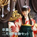 卒業式 袴 小学校 小学生 袴セット はかま ジュニア 菊乃(きくの) 小学校卒業式 きもの 着物 女 4点セット 140 150 160