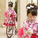 【送料無料】2008新作『雪うさぎの着物ドレス(白)』秋冬用お正月七