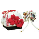 In Seven-Five-Three Festival hair ornament drawstring purse set &quot;classic cherry tree&quot; (off-white) hair ornament &amp; drawstring purse set Seven-Five-Three Festival wedding ceremony celebration present