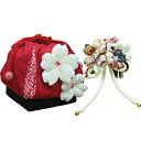 In Seven-Five-Three Festival hair ornament drawstring purse set &quot;classic cherry tree&quot; (red) hair ornament &amp; drawstring purse set Seven-Five-Three Festival wedding ceremony celebration present