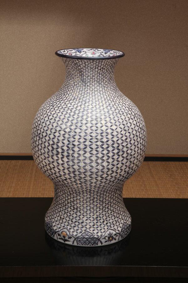 燦窯作紫墨七宝詰提灯型壷 【花器】【壷】【京焼】...の商品画像