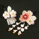 女裝 - 髪飾り 七五三着物 成人式振袖 卒業袴 に最適な和タイプ 2点セット ピンク色 梅 桜 クリップピンタイプ 日本製