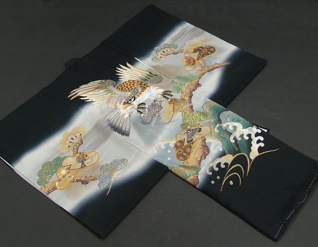 お宮参り 着物 男の子 正絹初着 濃紺 総刺繍...の紹介画像2