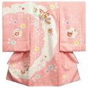 お宮参り 着物 女の子 正絹初着 ピンク 白 重ね雪輪本絞り 総刺繍金彩箔 サヤ本地紋生地 日本製