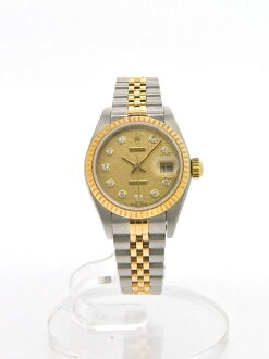 ROLEX Datejust 79173 G automatic winding Champagne Dial YG/SS watch