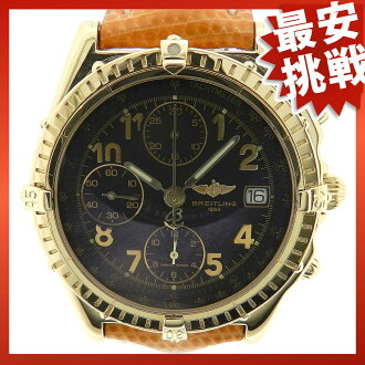 BREITLING chronomat K13050.1 watch K18YG / leather men's