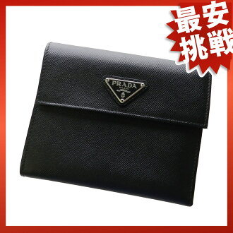 PRADA calf wallet 2 fold wallet (purse and ) calf unisex