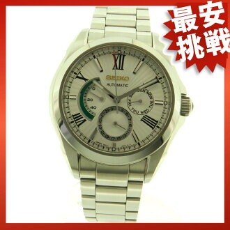 SEIKO Brights watch SS/ leather men