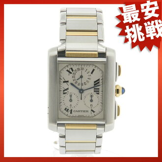 CARTIER タンクフランセーズ LM Kurono riff Rex watch SS/GP men