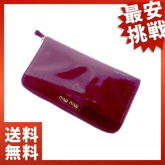 MIUMIU round fastener wallet wallets (purses and) enamel ladies