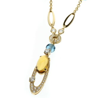 BVLGARI elicia necklace K18 gold ladies