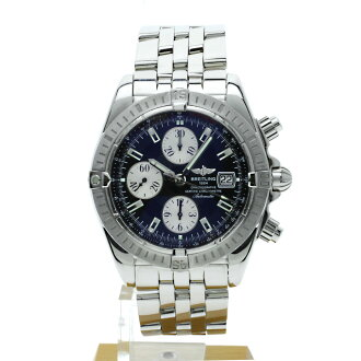 BREITLING chronomat evolution A13356 watch SS mens fs3gm