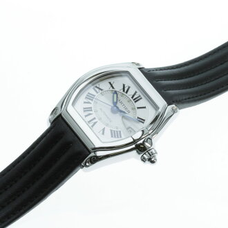 CARTIER Roadster LM watch SS / leather men's