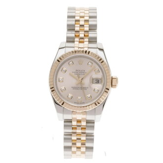 ROLEX date just 179171G watch K18PG/SS Lady's fs3gm