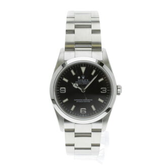 ROLEX114270 Oyster Perpetual Explorer 1 SS men's fs3gm watch