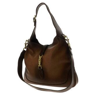 GUCCI Jackie 2-way bag shoulder bag Leather Womens