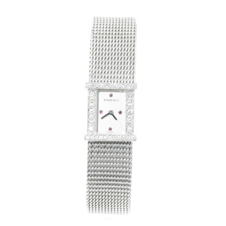 AUDEMARS PIGUETK18WG4P Ruby diamond case watch WG ladies