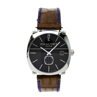 Chaumet dandy wristwatch SS / leather boys