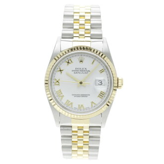 16233 ROLEXRef.16233 date just long novel watch SS/K18YG men