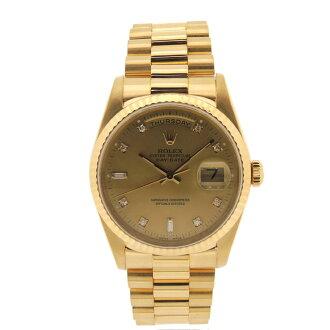 ROLEX18238A オイスターパーペチュアルデイデイト 10P diamond watch YG men
