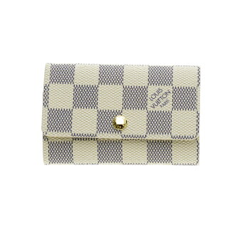 6 LOUIS VUITTON ミュルティクレ ダミエ アズール N61745 key Kay Mie Suda canvas unisex