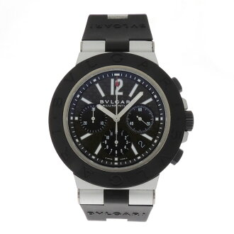 BVLGARI carbon black large AC44BTAVD SS / carbon mens watches