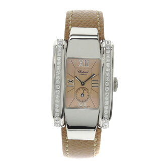 Chopard La Strada diamond side watch SS / leather ladies
