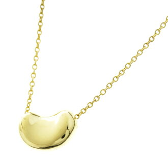 TIFFANY &Co... beans necklace K18 gold ladies