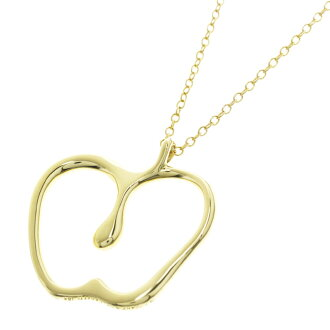 TIFFANY &Co... Apple motif necklace K18 gold ladies