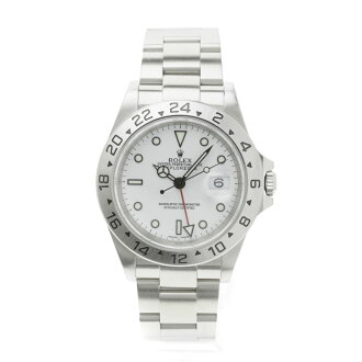ROLEX16570 the Explorer II watch SS men