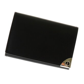 Dunhill logo design key case leather men
