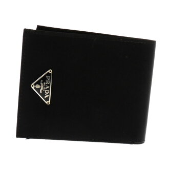 Folio wallet (there is a coin purse) nylon unisex with the PRADA logo mark