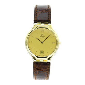 OMEGA de Ville watch SS / leather men's