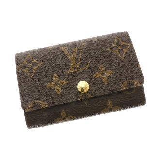 6 six LOUIS VUITTON ミュルティクレ M62630 key case key case monogram canvas unisex
