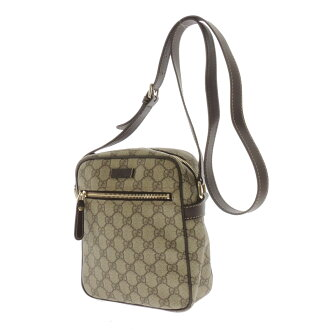 GUCCIGG pattern long shoulder shoulder bag PVCx leather unisex