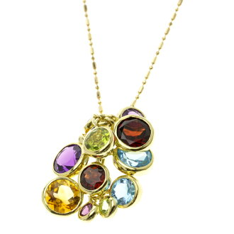 SELECT JEWELRY multi necklace K18 gold ladies fs3gm