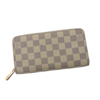 LOUIS VUITTON zippy wallet large zip around wallet N60019 wallet (purse and) Damier Canvas unisex