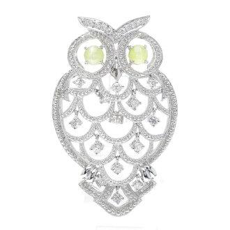 SELECT JEWELRY cat's-eye / diamond broach Lady's