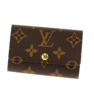 LOUIS VUITTON key holder 6 M 62630 key case Monogram Canvas unisex upup7