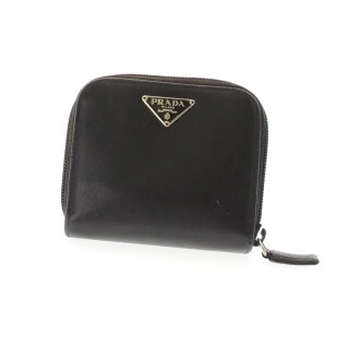 PRADA zip around coin compartment, 2 fold wallet ( purses and ) leather ladies