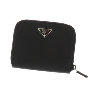 Folio wallet (there is a coin purse) nylon unisex with PRADA logo plate